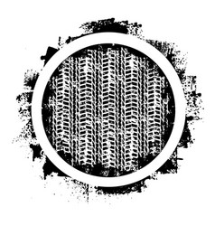 Grunge tire track and circle vector