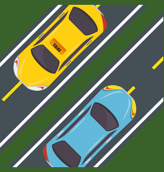 cars seen from above design vector image