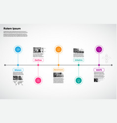 timeline process milestone business strategy vector image