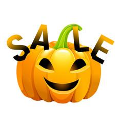 Halloween pumpkin sale vector