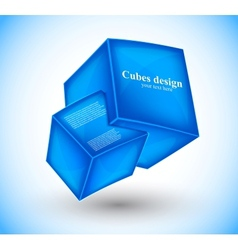 3d blue cubes vector image vector image