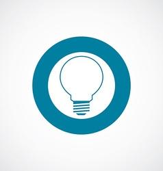 idea icon bold blue circle border vector image