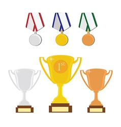 Sport award set vector