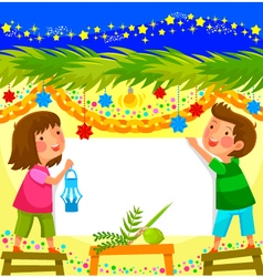 Celebrating sukkot vector