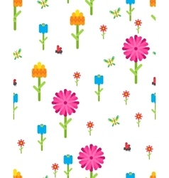 Garden flower party card template vector image