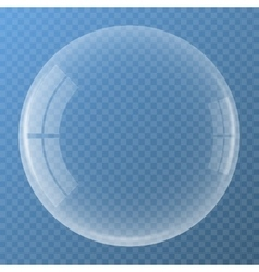 Bubble with glare icon vector