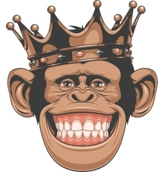 Funny monkey crown vector