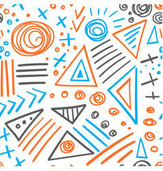 abstract marker colorful lines seamless pattern vector image vector image