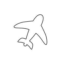 Airplane travel symbol vector