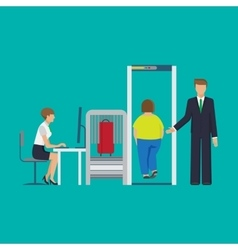 Airport security equipment for scanning the vector