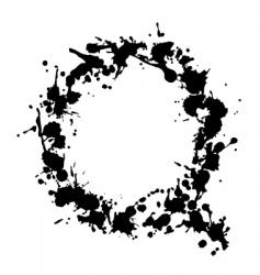 alphabet ink q vector image vector image