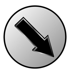 Arrow sign button vector