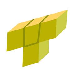 Block of tetris game cartoon vector