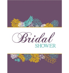 bridal shower card vector image vector image