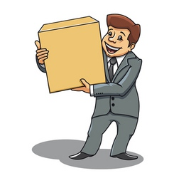businessman delivery concept vector image vector image