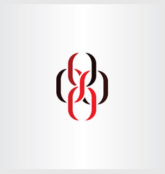 Chain knot symbol logo icon vector