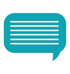 Conversation bubble design vector