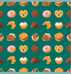 Cookie cakes tasty snack delicious chocolate vector