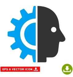 Cyborg head eps icon vector