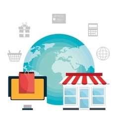 Ecommerceshopping and marketing design vector