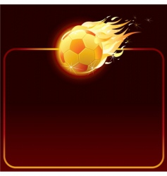 Fiery soccer ball vector