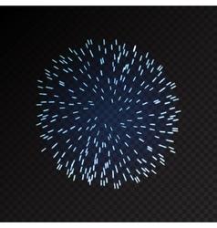 Fireworks festive bursting sparkling vector image