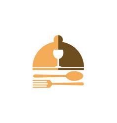 Food dish logo vector