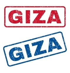 Giza rubber stamps vector