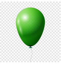 green transparent balloon vector image vector image