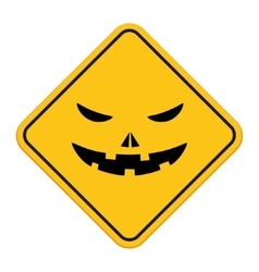 Halloween pumpkin sign vector image vector image