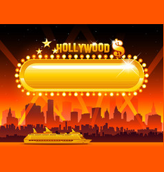 hollywood background vector image vector image