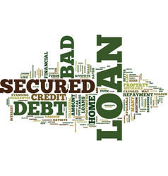 Liberate from the bad credit tag with bad debt vector