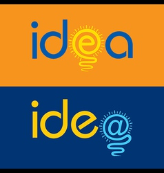 light bulb make idea text concept vector image vector image
