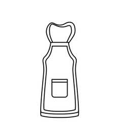 line apron object design style to clean vector image