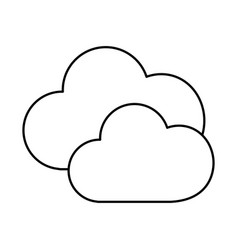 line nice clouds weather of sky vector image vector image