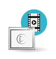 Movie design vector