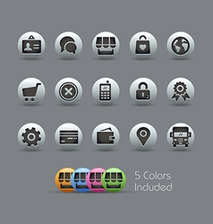 OnLine Store Icons Pearly Series vector image vector image