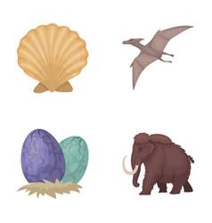 prehistoric shell dinosaur eggspterodactyl vector image vector image