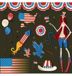 retro national American symbolic vector image