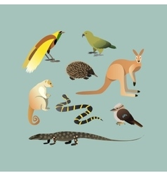 Set of different australian animals vector
