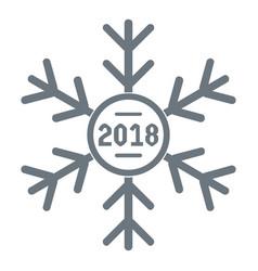snowflake logo simple gray style vector image vector image