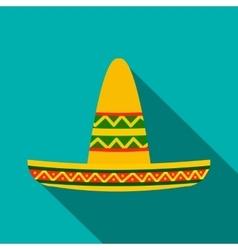 Sombrero icon flat style vector