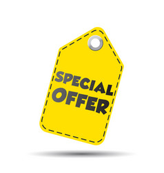 Special offer yellow hang tag vector