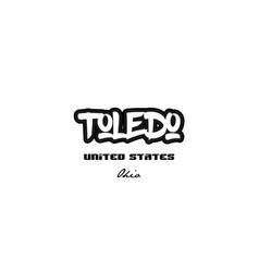 United states toledo ohio city graffitti font vector