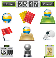 vector volleyball icon set vector image vector image