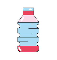 Water plastic bottle to drink and healthy vector
