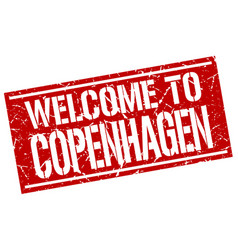 Welcome to copenhagen stamp vector