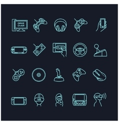 Video games and gadget icons vector