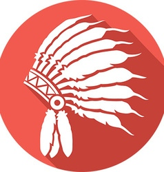 American indian chief hat icon vector