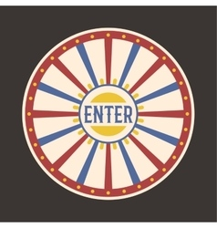 Circus vintage enter label banner vector